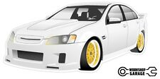 New! Collectable HDT Brock SS VE retro VK Commodore - White with Simmons