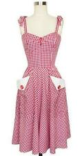 Trashy Diva Lucy red Gingham Swing Dress 2 NWOT Rockabilly retro Pinup Girl