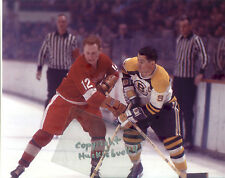 JOHNNY BUCYK HOF & BRUCE MACGREGOR Photo in action Bruins v Red Wings (c)