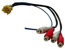 Adaptateur connecteur fiche prise Mini ISO vers 4 RCA phono pour enceinte auto