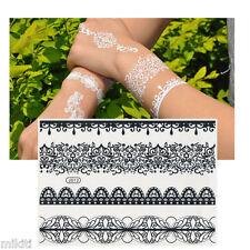 ♥♥TATOUAGE TEMPORAIRE NOIR: Bracelet dentelle (éphémère, black flash tattoo)♥♥