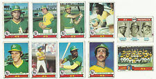 VINTAGE 1979 TOPPS BASEBALL CARDS – OAKLAND ATHLETICS A'S – MLB