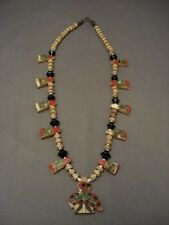 MUSEUM VINTAGE SANTO DOMINGO CAR BATTERY INLAY NECKLACE