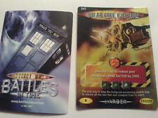 dr who INVADER  CARD  RARE  547 SOLAR FUEL EJECTION