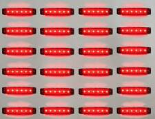 24x12v Led Red Rear Side Marker Light Truck Trailer Lorry Waterproof Transporter