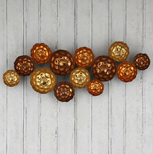 Pacific Bronze, Copper & Gold Metal Circles Wall Art 71-265
