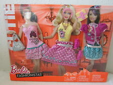 BARBIE FASHIONISTAS 2010 DAY LOOKS CLOTHES CUTIE BIRTHDAY PARTY FASHIONS CUTE!