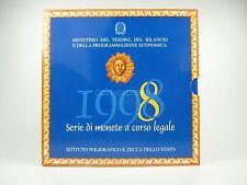 *** ITALIA lire KMS 1998 BU CORSO set di monete prima Euro Coin Set ITALY ITALIA LIRA