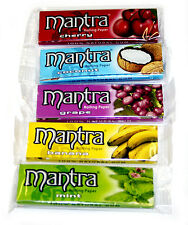 5 confezioni x MANTRA MISTO Flavors 1 1/4 FUMARE Sigaretta Cartina Per Sigarette