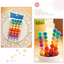 Cute Sugar-Coated Haws Cartoon Crayon Wax Pencil Smiley Face  CJB