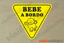 PEGATINA STICKER VINILO Bebe a bordo ref2 Baby on board autocollant aufkleber