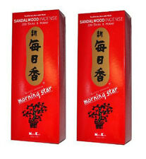 Japanese Nippon kodo Morning Star Sandalwood Incense 400 Sticks (2 BOXES)