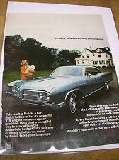 1968 Buick LeSabre Magazine Ad - Now We're Talking Your Language