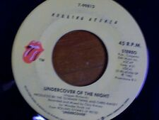 "THE ROLLING STONES 45 RPM ""Undercover of the Night"" & ""All the Way Down"" VG-"