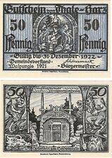 Germany 50 Pfennig 1921 Notgeld Thale-harz AU-UNC Banknote - Witch Demon