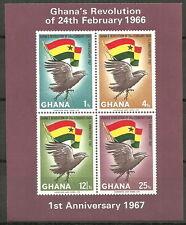 Ghana - Jahrestag Februar-Revolution Block 24B postfrisch 1967 Mi.Nr. 283-286
