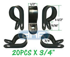 """(20 PACK) NYLON CABLE CLAMP 3/4""""  BLACK - SHIPS FREE TODAY!"""