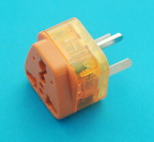 USA UK EURO AUS to Israel Travel Adaptor AC Power Plug + Surge Protection