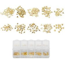 BMC 10 Mix Design Matte Gold Colored 3D Nail Art Metal Studs