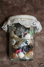 Vintage Buttons Lot in Ball Mason Crystal Quilted Jelly Jar Misc. sizes