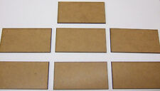 2mm MDF bases 40mm x 80mm pack of 7 for Swordpoint, DBMM, FOG or DBA
