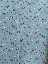 5 Yard Rose Bud Green Vintage Style Western Country Accent Cotton Fabric Daisy