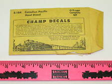 E-184 Champ Decals Canadian Pacific Hood Diesel