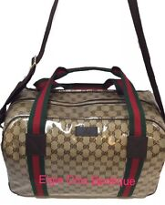 Authentic New Gucci GG Crystal Web Large Travel/Duffel Bag #374769, NWT