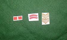 1/6 WW2 BRITISH Duca di Wellingtons REGGIMENTO spalla titoli Patch set lotto