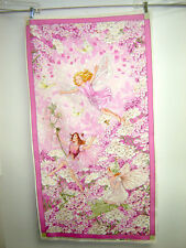 Fabric Miller PETAL FLOWER FAIRIES PINK PANEL