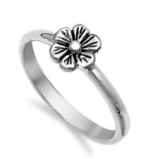 .925 Sterling Silver Ring size 11 Celtic Rose Flower Ladies Thumb New p76