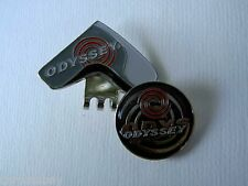 Golf Ball Marker Hat Clip ODYSSEY Black Headcover -Japan