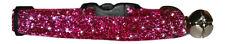 tela rojo cereza sparkle gato gatito collar seguridad y cascabel 17.8 cm-25.4 cm
