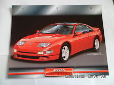 CARTE FICHE VOITURES D'EXCEPTION NISSAN 300 ZX TWIN TURBO