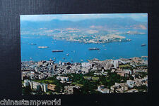old china hk postcard,kowloon and victoria city of Hk, unused