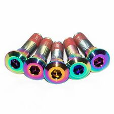 5x Gsxr600 K1 K2 K3 K4 K5 Rainbow Titanium Rear Disc Rotor Bolts With Threadlock