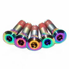 5x Gsxr1000 K1 K2 K3 K4 Rainbow Titanium Rear Disc Rotor Bolts With Threadlock