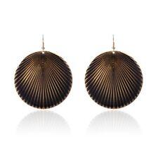 Round Shell Shape Enamel Pendant Hook Dangle Drop Earrings Jewelry Gift 6 Colors
