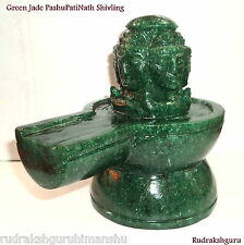 PashuPatiNath Shivling In Natural Green Jade - 2700 gm