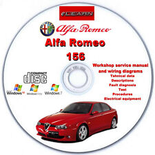 Alfa Romeo 156 eLearn – Multilingual Factory Repair Manual CD