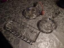 Alte Frisiertisch Garnitur ,denke Kristall,Dreiteilig,Tadellos,