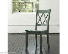 Antique Blue/Green Finish Dining Room Side Chairs Set of 4pc Ashley Furniture