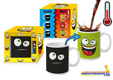 HEAT COLOUR CHANGING MAGIC MUG  FUNNY FACE GREEN PRESENT HUMOROUS  FACE03