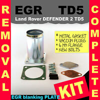 Land Rover Discovery Defender TD5 EGR Removal Complete Kit EGR blanking plate