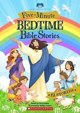 Five-Minute Bedtime Bible Stories by Amy Parker (2015, Board Book)