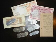 LOT of 11 - VERY RARE COINS & NOTES - French Indochina, Vietnam War, NVN - 043