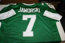 "PHILADELPHIA EAGLES #7 RON JAWORSKI CUSTOM JERSEY SIZE XXL SB XV ""JAWS"""