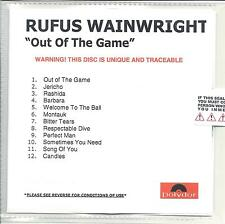 RUFUS WAINWRIGHT Out Of The Game UK 12-trk low numbered promo test CD sealed