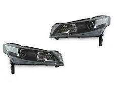 2009-2013 ACURA TL 4G DEPO CRYSTAL BLACK HOUSING HEADLIGHTS WITH CLEAR CORNERS