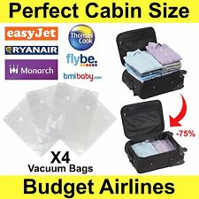 4 Pack Vacuum Vacum Storage Saving Space Seal Bags Travel Suitcase Small